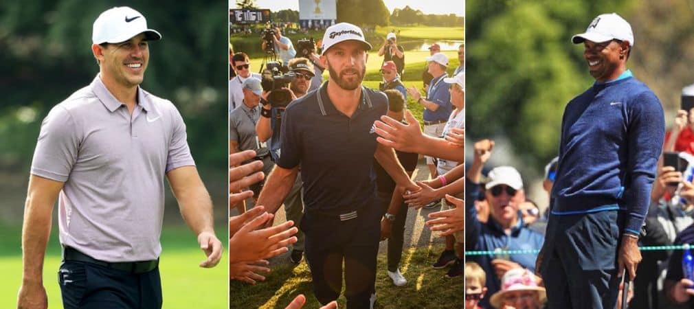 Brooks Koepka, Dustin Johnson und Tiger Woods: Sie alle wollen bei der Northern Trust gewinnen. (Foto: Instagram/@pgatour)