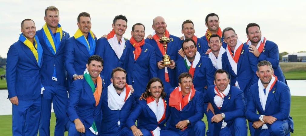 Mit einer fantastischen Teamleistung gewinnt die Europäische Mannscahft den Ryder Cup 2018. (Foto: Getty)