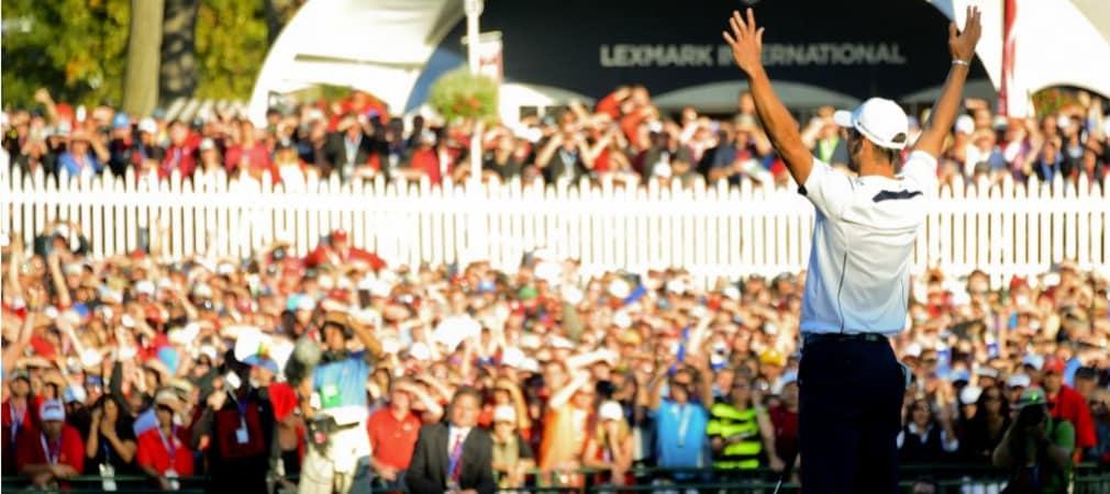 Martin Kaymer feiert den Siegputt beim Ryder Cup 2012. (Foto: Getty)