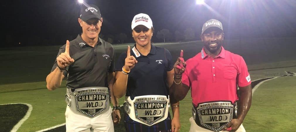 Die Sieger der World Long Drive Championship 2018 mit ihren
