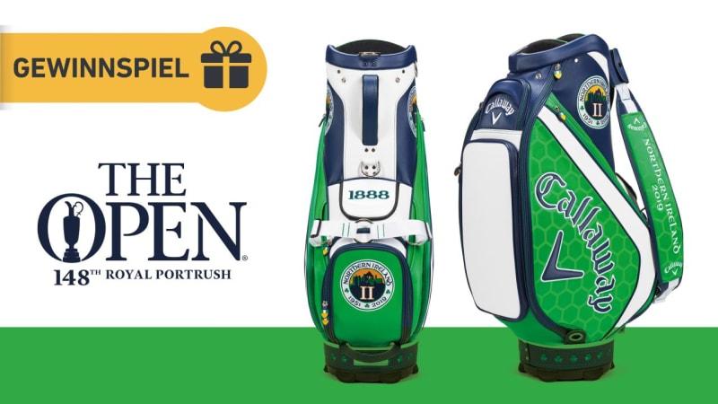 Jetzt eins von zwei Callaway Open Championship Bags gewinnen.