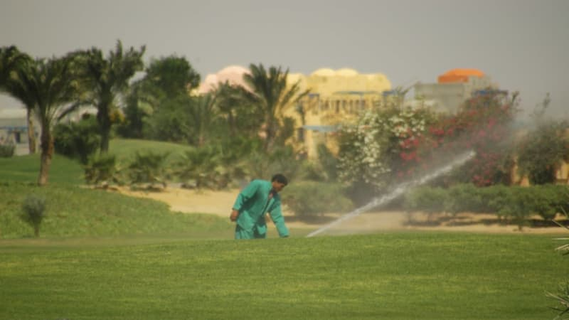 Bewässerung eines Golfplatzes
