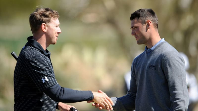 Hunter Mahan (li.) und Martin Kaymer (re.)