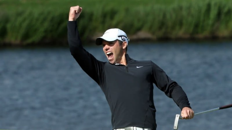 Paul Casey jubelt über seinen Sieg