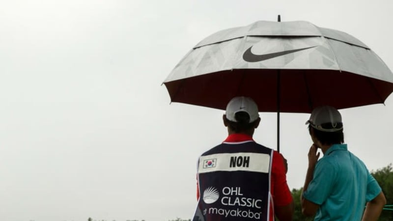 Unwetter bei der OHL Classic at Mayakoba 2013.