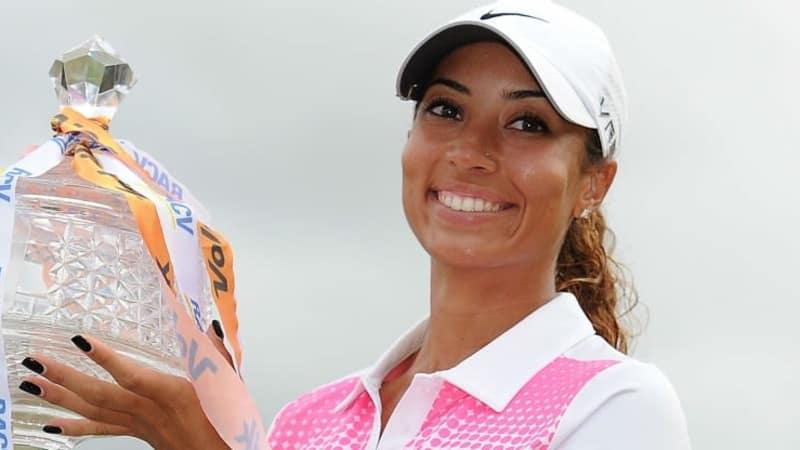 Cheyenne Woods ist die stolze Siegerin des Volvik Ladies Masters an der australischen Gold Coast