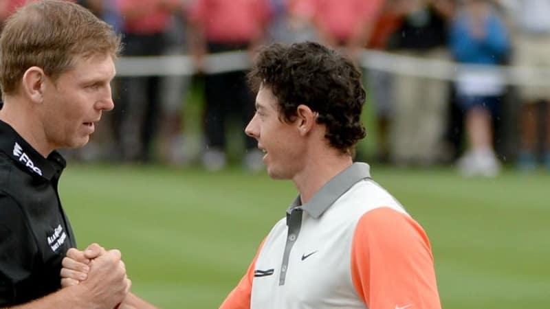 In Dubai waren Stephen Gallacher und Rory McIlroy noch Konkurrenten, im Ryder Cup könnten sie beide zusammen im Team Europa spielen