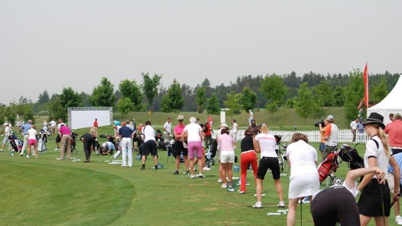 Golftraining auf der Driving Range