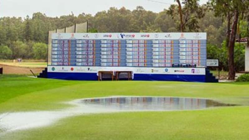 Nach heftigen regenfällen in der Nacht und am Freitagvormittag wurde die Turkish Airlines Ladies Open auf 54 Löcher verkürzt.