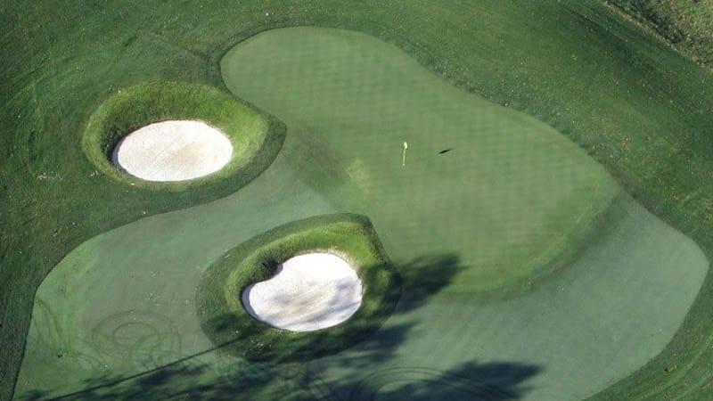 Das Grün des 16. Lochs im Valhalla Golf Club in Kentucky. (Foto: Getty)
