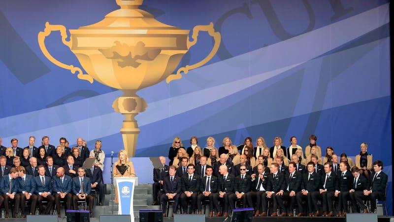 Mit einer großen Eröffnungsfeier geht der Ryder Cup 2014 in diesem Minuten richtig los.