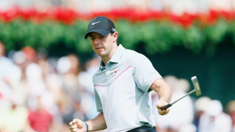 Rory McIlroy zeigt, dass er Putten kann. (Foto: Getty)
