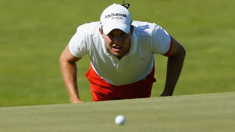 Maximilian Kieffer erlebte zum Auftakt der Perth International eine wechselhafte Runde und muss weiter um seine Tourkarte für 2015 bangen.