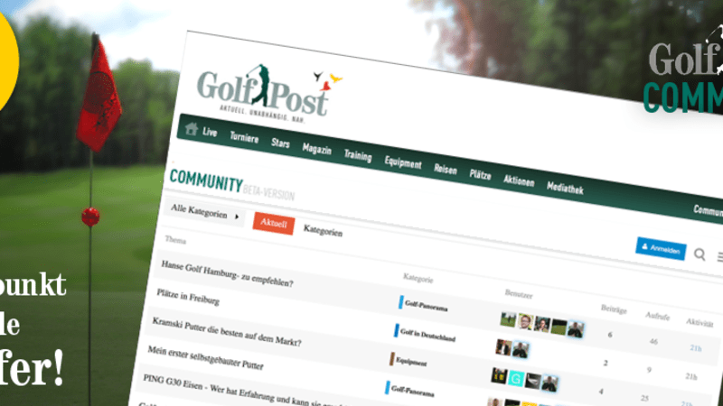 Jetzt neu: Die Golf Post Community (Foto: Golf Post).