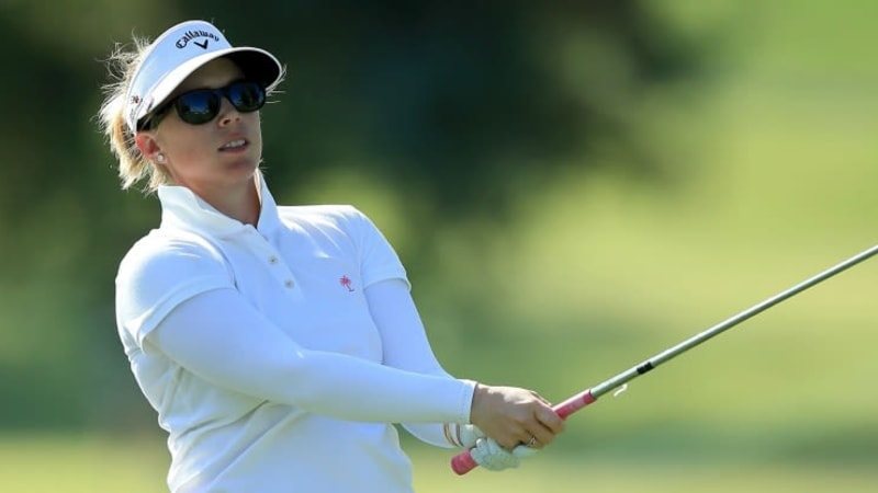 Auftakt in Kalifornien - Morgan Pressel erwicht den beten Start in die ANA Inspiration, Masson solide, Gal weiter hinten. (Foto: Getty)
