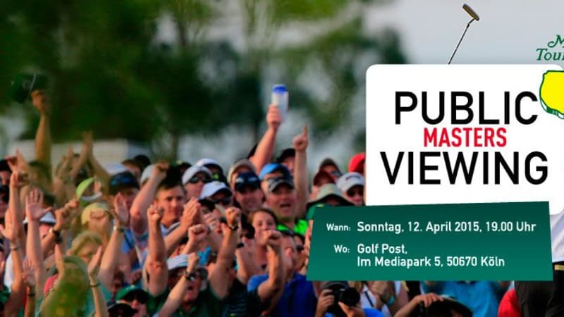 Masters Golf Tournament 2015 in Augusta: Gemeinsames Public Viewing bei Golf Post!