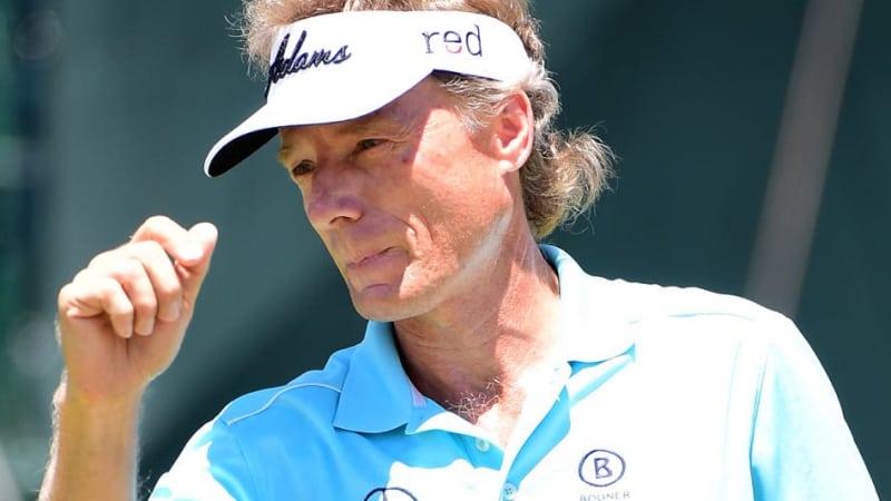 Bernhard Langer hat seinen nächsten Majortitel knapp verpasst und wurde bei der US Senior Open 2015 in Kalifornien, USA, Dritter. (Foto: Getty)