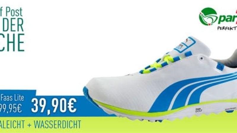 par71 bietet Ihnen diese Woche den Puma FAAS Lite Golfschuh zum Tiefpreis von 39,90€ an. Schlagen Sie zu und sichern Sie sich den Deal. (Foto: Golf Post)
