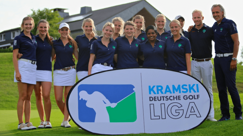 Das war knapp! Die Damen aus Hubbelrath konnten auch den dritten Spieltag für sich entscheiden, mussten sich dabei allerdings ganz schön strecken. (Foto: DGV/ Tiess)