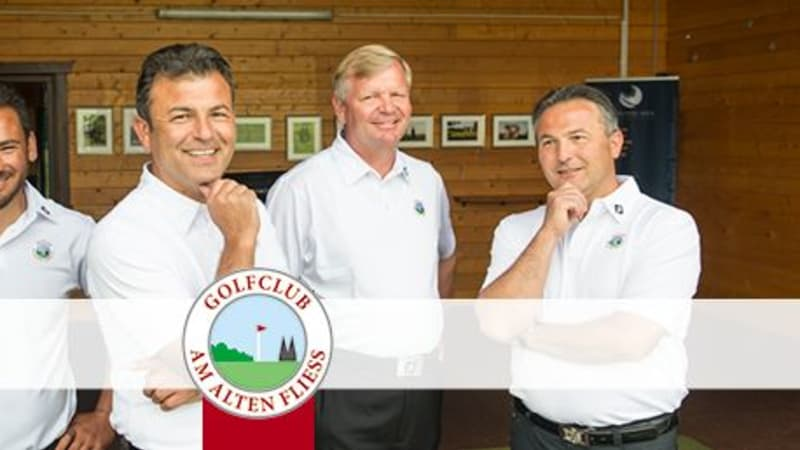 Die Golftrainer der vierköpfigen Golfschule Köln