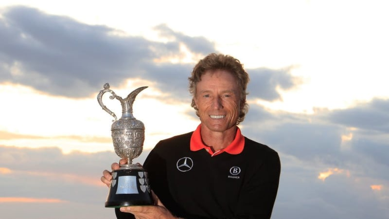 Bernhard Langer gewann 2014 die Senior Open Championship mit dem Rekord von 13 Schlägen Vorsprung vor Colin Montgomerie.