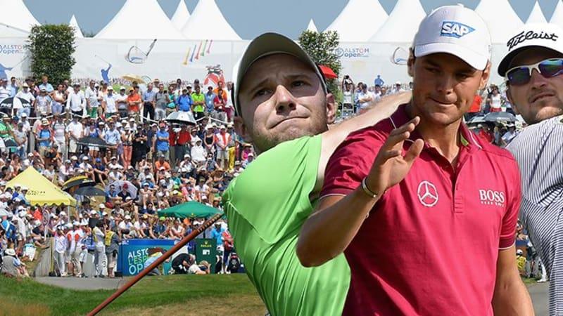 Maximilian Kieffer, Martin Kaymer und Bernd Wiesberger (v.l.) haben gute Chancen auf den Sieg bei der Alstom Open de France.