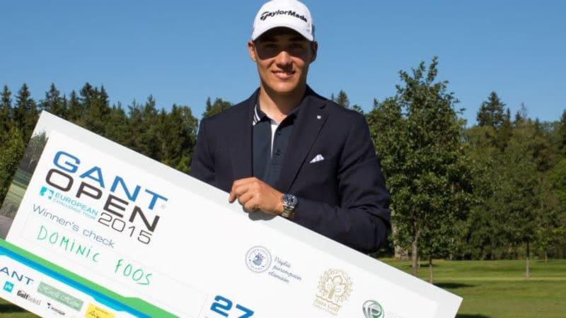 Dominic Foos gewinnt bei der Gant Open im finnischen Turku sein erstes Profi-Turnier. (Foto: IMPACT point AG)