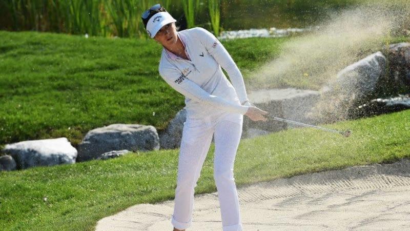 Sandra Gal kämpft sich bei der Evian Championship aus dem Bunker. (Foto: Getty)