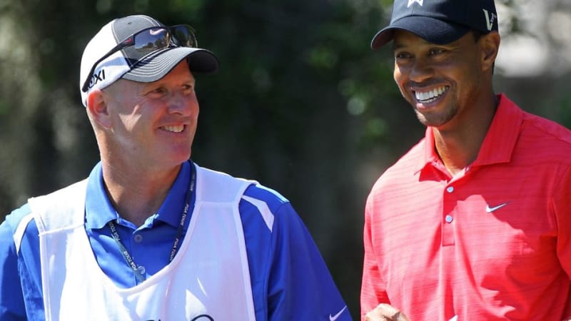 Joe LaCava (li.) mit Tiger Woods beim Arnold Palmer Invitational 2012. (Foto: Getty)