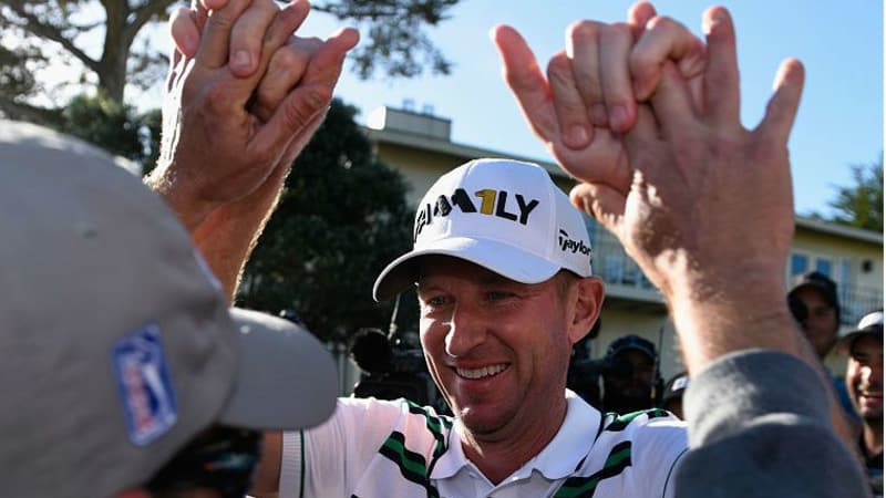 High Ten - Vaughn Taylor gewinnt in Pebble Beach. (Foto: Getty)