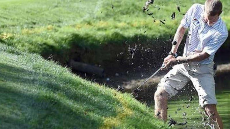 Auf dem Golfplatz passieren schon mal