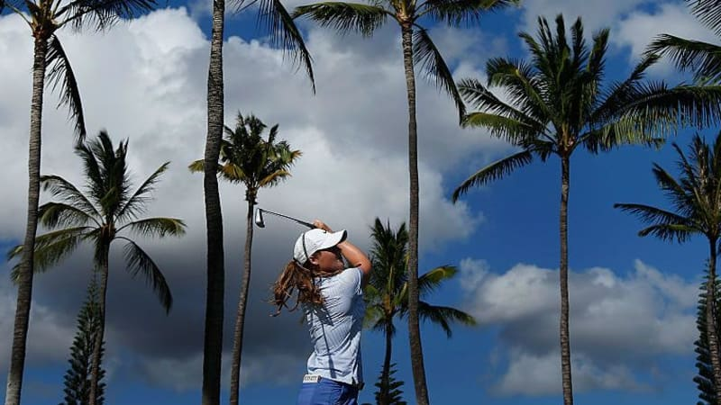 Katie Burnett aus den USA bei der Lotte Championship auf Hawaii. (Foto: Getty)