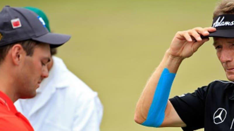 Zwei deutsche Gesichter beim Masters Tournament: Martin Kaymer und Bernhard Langer gehen in Augusta an den Start. (Foto: Getty)