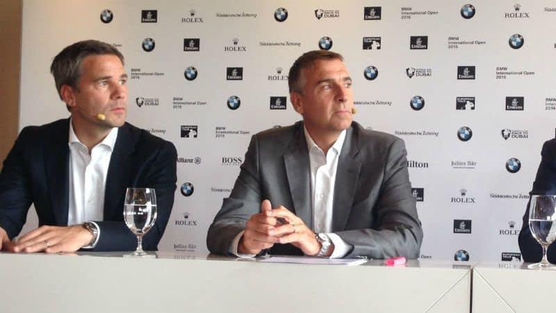 Friedrich Edel, Marco Kaussler und Josef Spyth (von links nach rechts) über die BMW International Open 2016. (Foto: Golf Post)