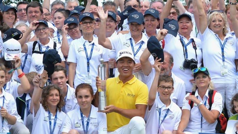 Ashun Wu aus China gewinnt die Lyoness Open 2016. (Foto: Getty)