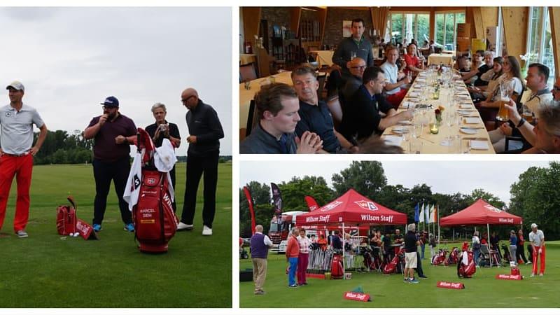 Drei Golf Post Leser verbrachten einen Tag mit Tour Profi Marcel Siem im GCC Velderhof. (Foto: Wilson Staff)