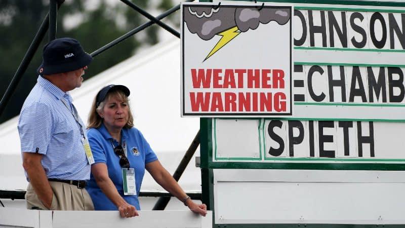 Mehrfach wurde der erste Turniertag der US Open 2016 wegen Regens unterbrochen. (Foto: Getty)