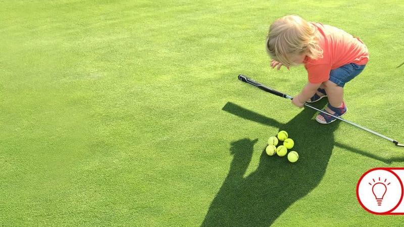 Auch für kleinere Kinder bieten Übungsanlagen in Golf Clubs viele Gelegenheiten. (Foto: Fabian Bünker)