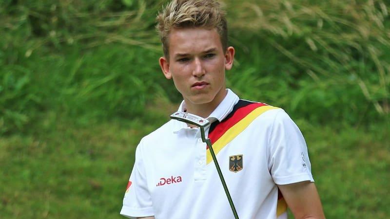Der 16-Jährige Falko Hanisch holte einen Punkt beim Junior Ryder Cup für das europäische Team. (Foto: DGV/stebl)
