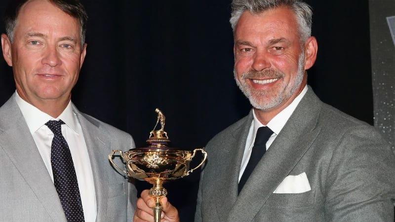 Wissen genau worauf es beim Ryder Cup ankommt: Davis Love III (links) und Darren Clarke. (Foto: Getty)