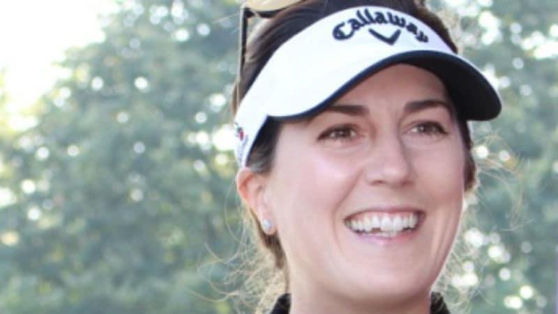 Sandra Gal steht der Ladies European Tour Rede und Antwort. (Foto: Golf Post)