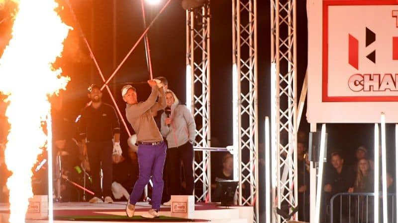 Luke Donald lässt es knallen! Die Hero Challenge sorgte vor dem British Masters für Aufsehen. (Foto: Getty)