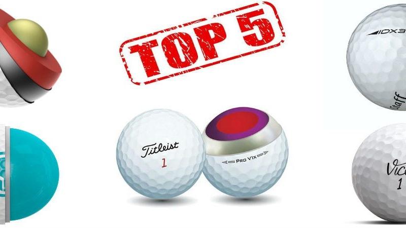 Unsere Top 5 der Golfbälle für die Saison 2017. (Foto: Vice/Callaway/Titleist/Wilson/Foreace)