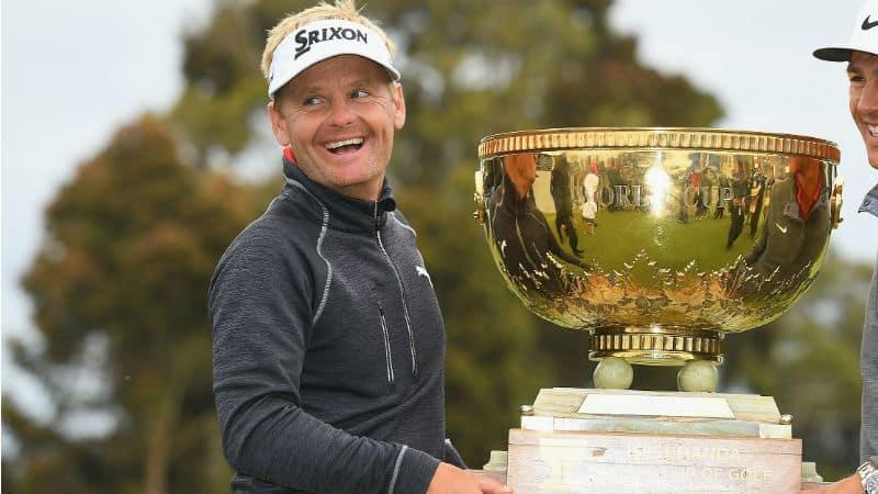 Die strahlenden Sieger: Thorbjörn Olesen und Sören Kjeldsen sicherten sich den World Cup of Golf - das erste Mal triumphierte Dänemark. (Foto: Getty)