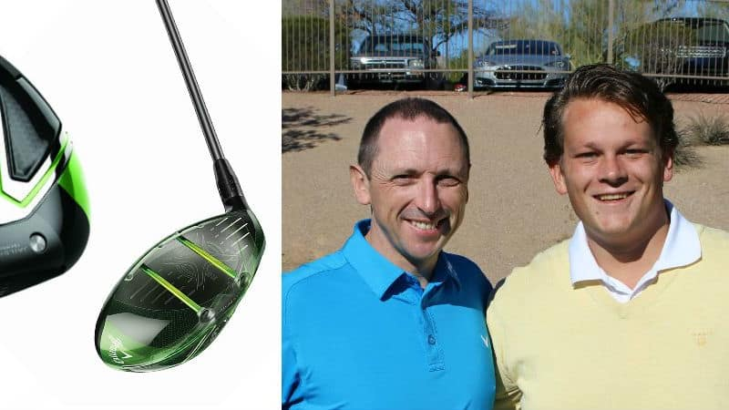 Golf Post traf sich anlässlich der Einführung des Callaway Great Big Bertha Epic Driver mit dem Chefentwickler der Amerikaner, Dr. Alan Hocknell (li.). (Foto: Callaway/Golf Post)