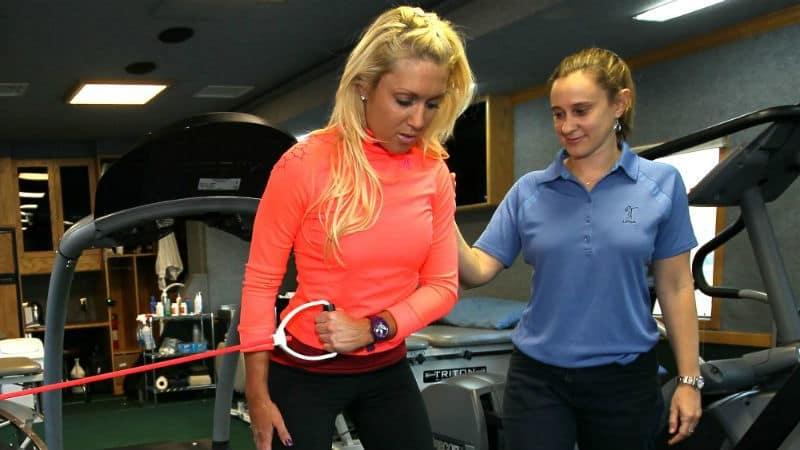 Auch Natalie Gulbis schwört auf Fitnesstraining. (Foto: Getty)