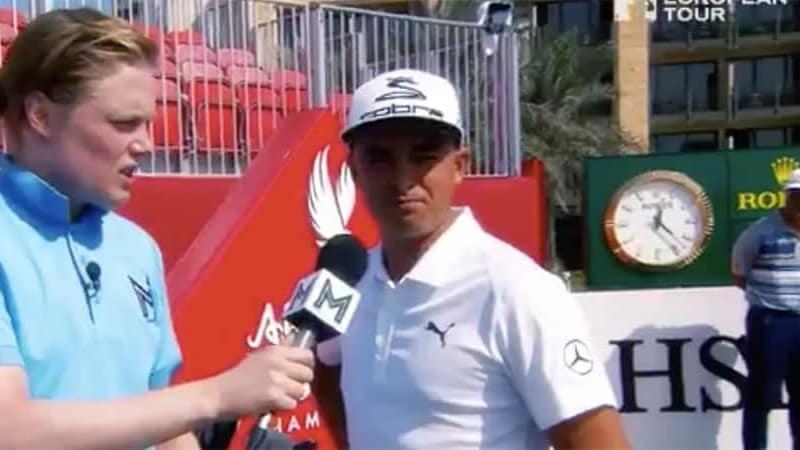 Golf Video Awkward Reporter European Tour Abu Dhabi HSBC Championship