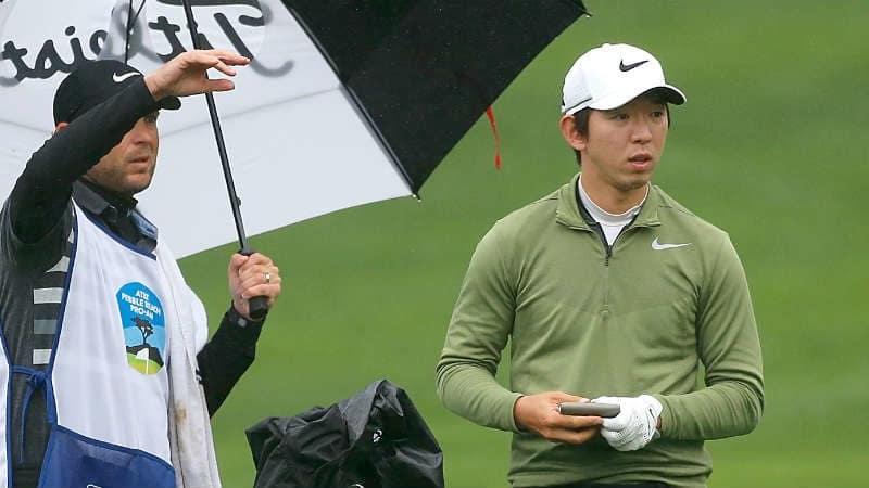 Der Südkoreaner Seung-Yul Noh ist bei Abbruch der ersten Runde des AT&T Pebble Beach Pro-Am einer von drei Spielern an der Spitze.