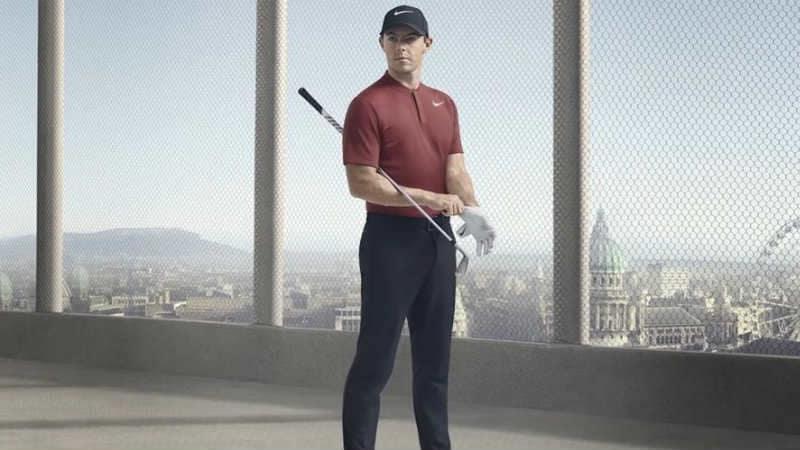 Rory McIlroy verlängert kurz vorm Masters beim amerikanischen Sportriesen Nike seinen Vertrag mit einer utopischen Summe. (Foto: Twitter @RLonges)