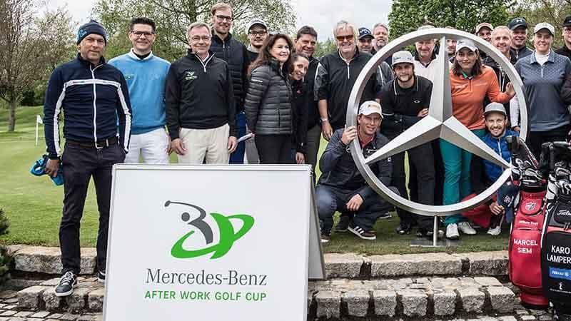 2017 rechnen die Veranstalter des Mercedes Benz After Work Golf Cup mit rund 30.000 Teilnehmern. (Foto: Mercedes Benz)